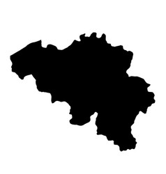 black silhouette country borders map of belgium vector image vector image