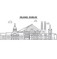 irland dublin architecture line skyline vector image