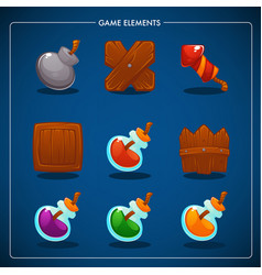 match 3 mobile game games objects potion bomb vector image