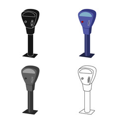 parking meter icon in cartoon style isolated on vector image vector image