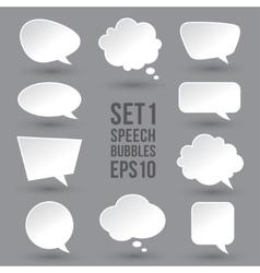 White speech bubbles set vector