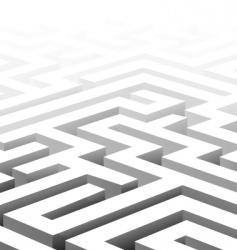 3d maze vector image vector image