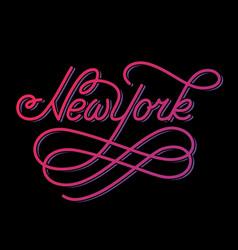 new york hand written city name vector image