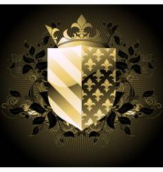 ornamental shield vector image vector image