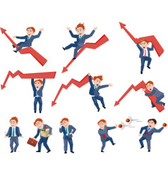 set of business person in different situation vector image