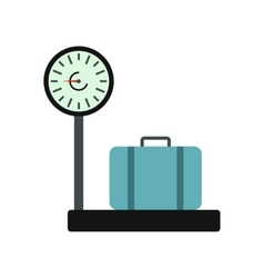 Weighing luggage icon vector image