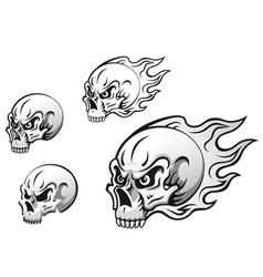 danger evil skulls vector image vector image