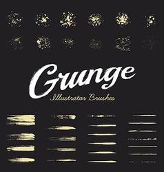 Grunge Brushes Set vector image vector image