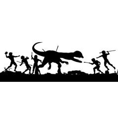Prehistoric hunt vector image vector image