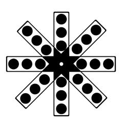 Round cmyk picker icon simple style vector