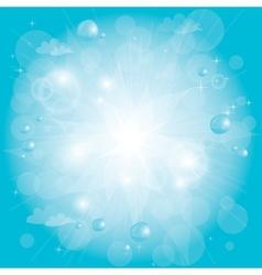 shining blue sky vector image vector image