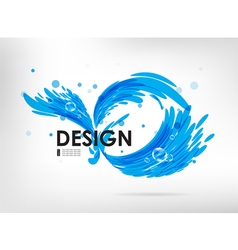 Sign water splash vector image vector image