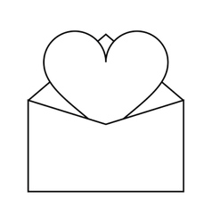 valentines day romantic mail heart envelope open vector image