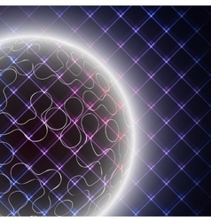 Abstract light sphere on black background vector image