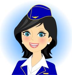air stewardess vector image