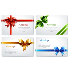 Beautiful business cards vector image vector image