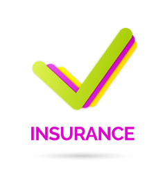 bright sign and logo of life insurance vector image vector image