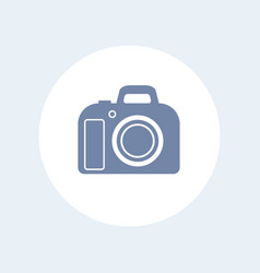 dslr camera icon isolated over white vector image vector image