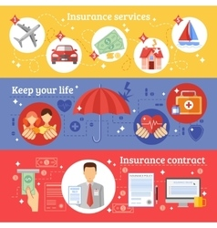 Insurance Banners Set vector image