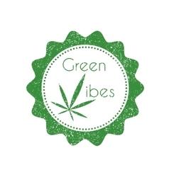 Marijuana badge vector