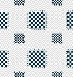 Modern Chess board sign Seamless pattern with vector image vector image