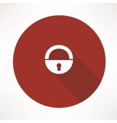 old lock icon vector image vector image