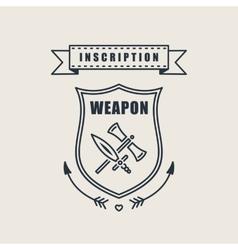 Retro vintage sword badges shields crests vector image