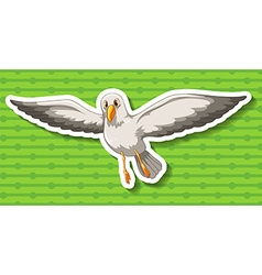 Seagull flying in the sky vector image vector image