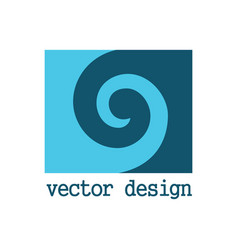 square spiral logo vector image