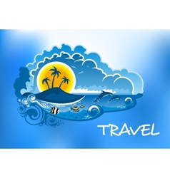 Travel poster design vector image vector image