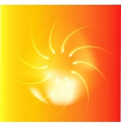 Abstract fire colors rotating swirl orange backgro vector