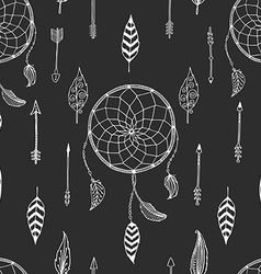 Arrow background retro pattern etnic doodle vector