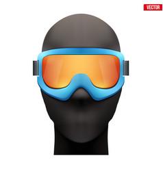 Balaclava ski mask with goggles vector