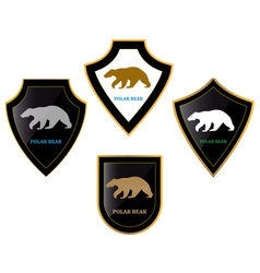 Bears and shields vector image