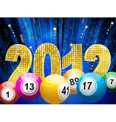 bingo or lottery balls vector image