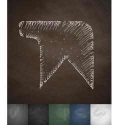 bookmark icon Hand drawn vector image