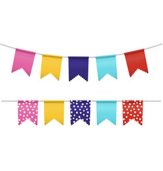bunting flags isolated vector image vector image