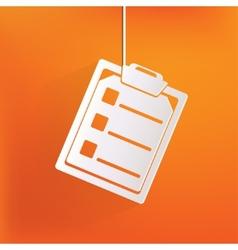 Clinical reportmedical data icon vector