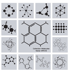 Collection Molecules vector