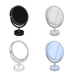 desk mirrorbarbershop single icon in cartoon vector image