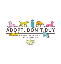 Dog adoption poster vector