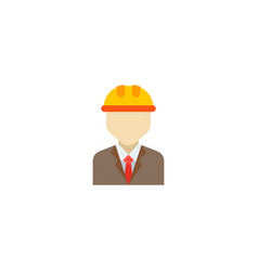 engineer icon flat element of vector image