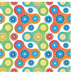 Fidget spinner toy seamless pattern vector