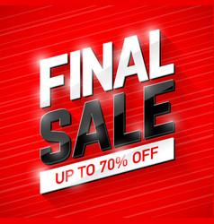 Final sale banner vector