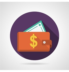 Flat icon for red wallet vector image