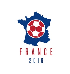 football european championship 2016 in France vector image