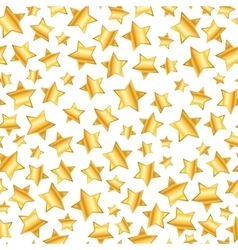 Golden stars on white seamless pattern vector