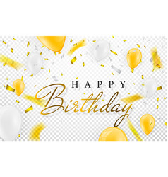 happy birthday celebration party banner golden vector image