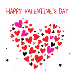 happy valentine day sweetheart cartoon vector image vector image