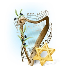 harp of David vector image